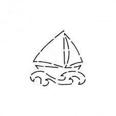 Dream Boat 5in Stencil