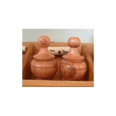 Turned Wooden Finials x2 - Size 3 (Large)